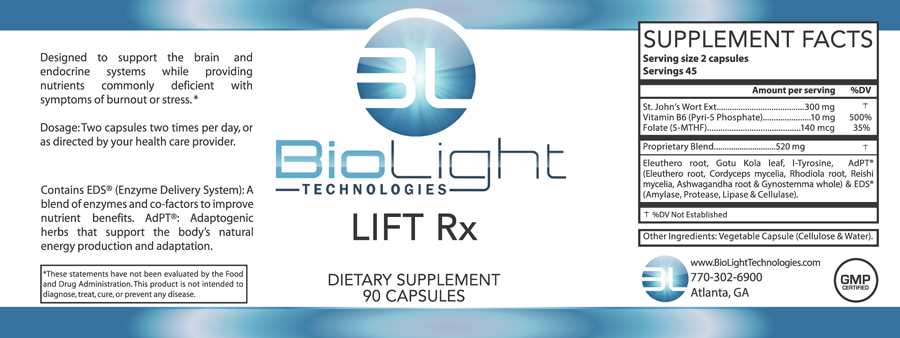 Lift Rx Mood Support 90 Ct